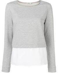 Peserico - Layered Sweatshirt - Lyst