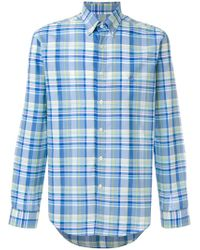 Etro - Long Sleeve Check Shirt - Lyst