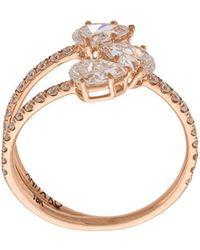 Anita Ko | Gold Three-stone Claw Ring | Lyst