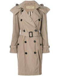 Burberry - Double Breasted Belted Trench Coat - Lyst