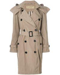 Burberry - Detachable Hood Tafetta Trench Coat - Lyst