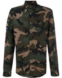 Valentino - Camouflage Shirt - Lyst