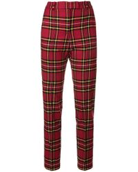 Ermanno Scervino - Tartan Fitted Trousers - Lyst