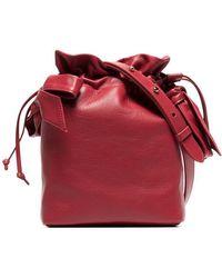 Simone Rocha - Red Bow Appliqué Leather Bucket Bag - Lyst