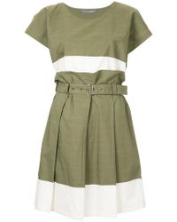 Issey Miyake - Colour Block Skirt Suit - Lyst