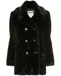 Moschino - Faux Fur Coat - Lyst