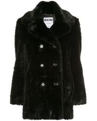 Moschino - Faux Fur Coat - Lyst