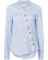 Tibi - Jones Stripe Asymmetric Shirt - Lyst
