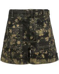 Proenza Schouler - Pswl Bleach Dye Utility Shorts - Lyst