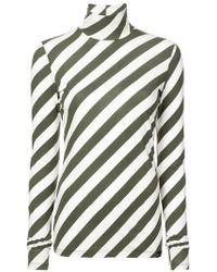 Proenza Schouler - Pswl Diagonal Stripe Turtleneck - Lyst