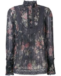 Zimmermann - Floral Long-sleeve Blouse - Lyst