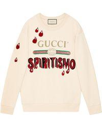 "Gucci - Logo ""spiritismo"" Sweatshirt - Lyst"