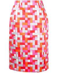 Mary Katrantzou - Sigma Lego Print Skirt - Lyst