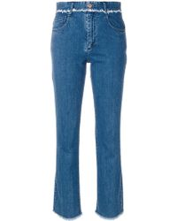 See By Chloé - Frayed Trim Jeans - Lyst