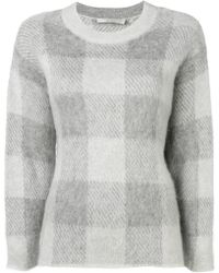 Vince - Check Knit Sweater - Lyst