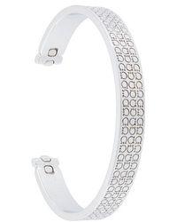 Ferragamo - Gancio Engraved Cuff Bracelet - Lyst