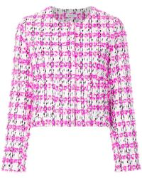 P.A.R.O.S.H. - Collarless Textured Jacket - Lyst