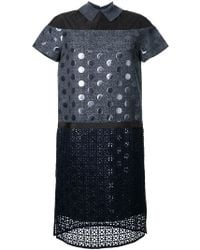 Kolor - Patch Detail Shift Dress - Lyst