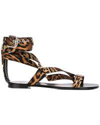 0152f2512174 Giuseppe Zanotti Toe Ring Sandal in Metallic - Lyst