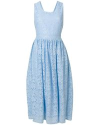Blugirl Blumarine - Sleeveless Lace Midi Dress - Lyst