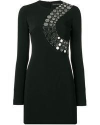 David Koma - Circles Chest Embellishment Dress - Lyst