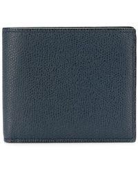 Valextra - Pebbled Bi-fold Wallet - Lyst