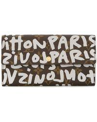 Louis Vuitton - Porte Monnaie graffiti monogram wallet - Lyst