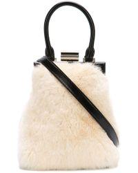PERRIN Paris - Furry Shoulder Bag - Lyst