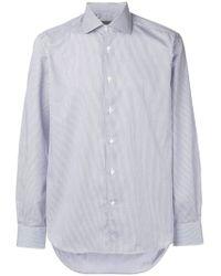 Corneliani - Stripe Long-sleeve Shirt - Lyst