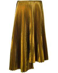 Cedric Charlier - Plisse Asymmetric Skirt - Lyst
