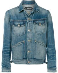 Tom Ford - Fitted Denim Jacket - Lyst