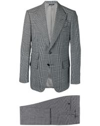 Tom Ford - Anzug mit Hahnentrittmuster - Lyst