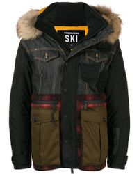 DSquared² - Patchwork Puffer Jacket - Lyst