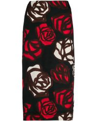 Marni - Rose Printed Skirt - Lyst