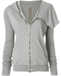 Rick Owens Drkshdw - Zipped Asymmetric Jacket - Lyst