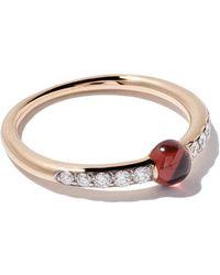 Pomellato - 18kt Rose Gold M'ama Non M'ama Garnet & Diamond Ring - Lyst