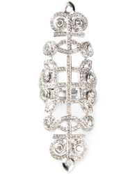 Nikos Koulis - Pavé Diamond Embellished Ring - Lyst