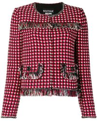 Boutique Moschino - Regular Fit Tweed Jacket - Lyst