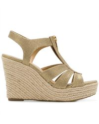 aa1d58d6459 MICHAEL Michael Kors - Berkley Wedge Sandals - Lyst