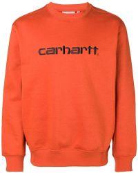 Carhartt - Logo Embroidered Sweatshirt - Lyst