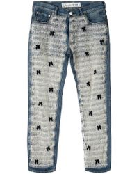 Tu Es Mon Tresor - Front Tulle Frill Jeans - Lyst