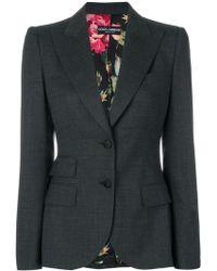 Dolce & Gabbana - Fitted Blazer - Lyst