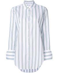 Equipment - Striped Long-line Shirt - Lyst