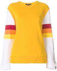 Perfect Moment - Striped Detail Sweatshirt - Lyst