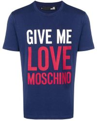 Love Moschino - 'Give Me Love' T-Shirt - Lyst