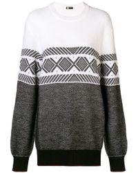 Z Zegna - Contrast Geometric Pattern Sweater - Lyst