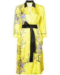 Vionnet - Long Belted Blossom Coat - Lyst