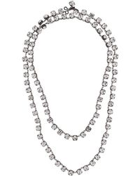 Ann Demeulemeester - Crystal Stone Necklace - Lyst