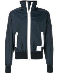 Thom Browne - 4-bar Stripe Lightweight Ripstop Hidden Hood Zip-up Jacket - Lyst