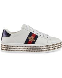 Gucci - Ace Trainers With Crystals - Lyst